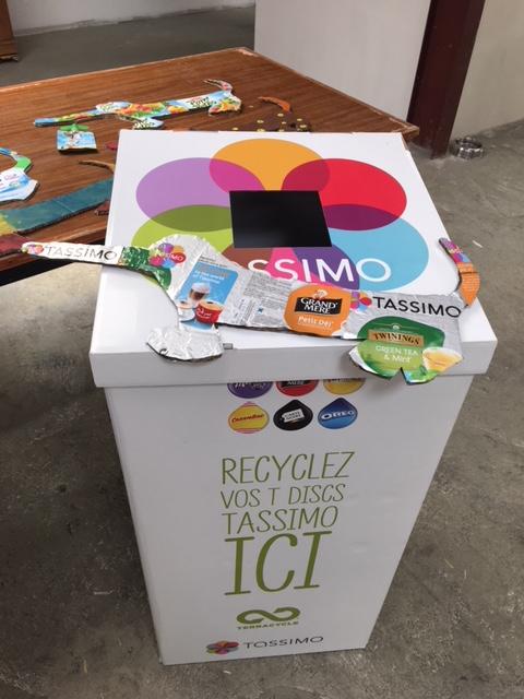 Les boites de recyclage TASSIMO de l'association Teckels ans Doux Foyer
