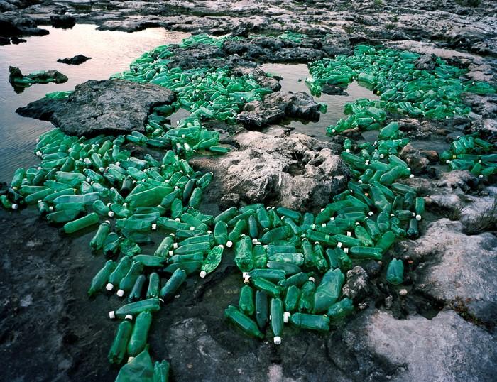 Plastiques de plage et œuvresd'art