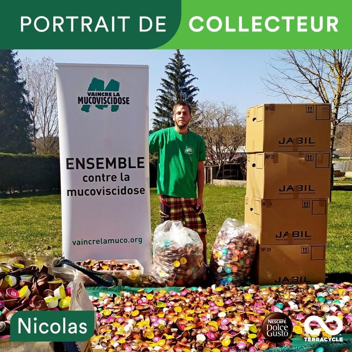PORTRAIT DE COLLECTEUR : NICOLAS MAUGAIN POUR L'ASSOCIATION VAINCRE LAMUCOVISCIDOSE